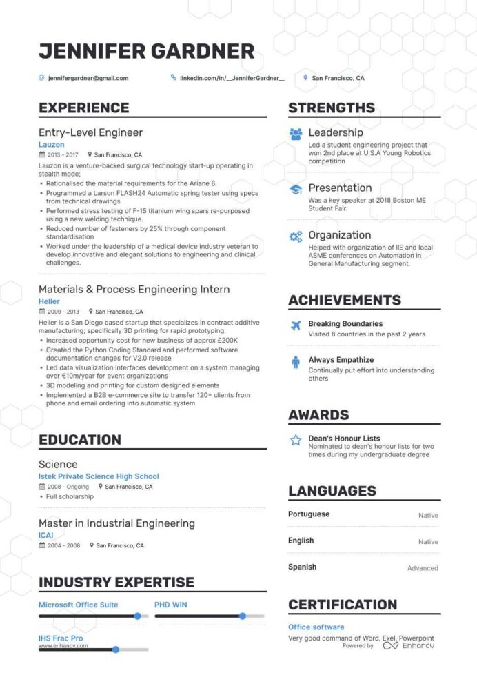 the best entry level engineer resume examples skills to get you hired mechanical Resume Entry Level Mechanical Engineering Resume Examples