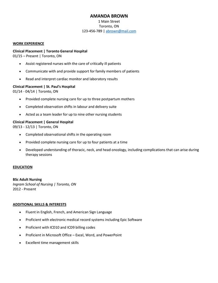 the best nursing cv examples and templates entry level cna resume sample synonyms citrix Resume Entry Level Cna Resume Sample