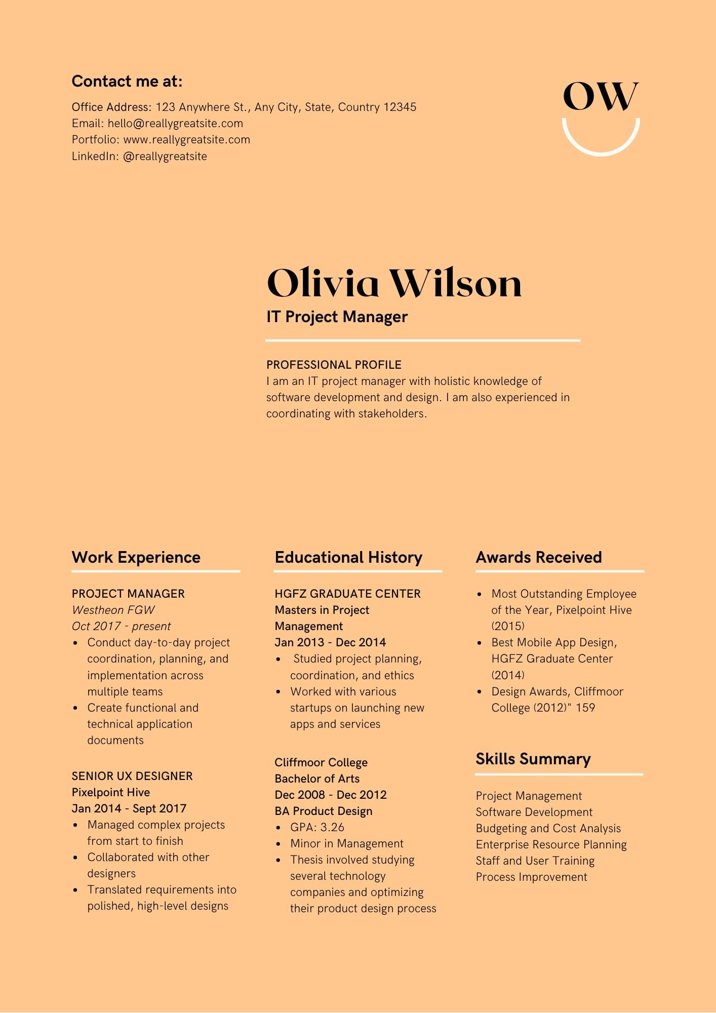 the best resume format canva cover letter cream and black modern retail job duties for Resume Canva Resume Cover Letter