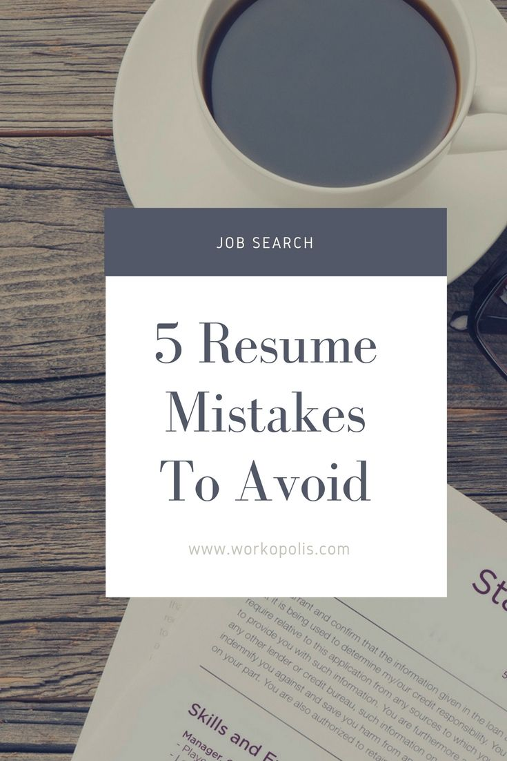 the top resume mistakes you need to avoid workopolis blog tips no experience search rj Resume Workopolis Resume Search