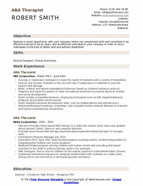 therapist resume samples qwikresume applied behavior analysis pdf currently studying on Resume Applied Behavior Analysis Resume
