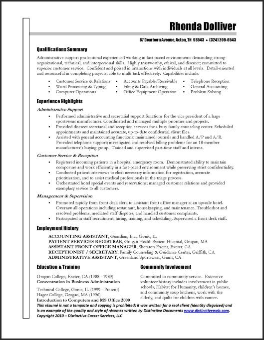 there are variety of free resume templates and builder programs available administrative Resume Free Resume Examples For Administrative Assistant