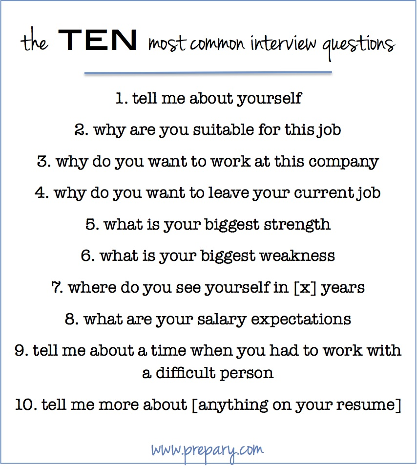 to answer the most common interview questions prepary resume Resume Resume Interview Questions