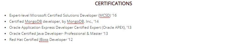 to certification on resume guide with examples and certifications without bolding Resume Resume And Certifications