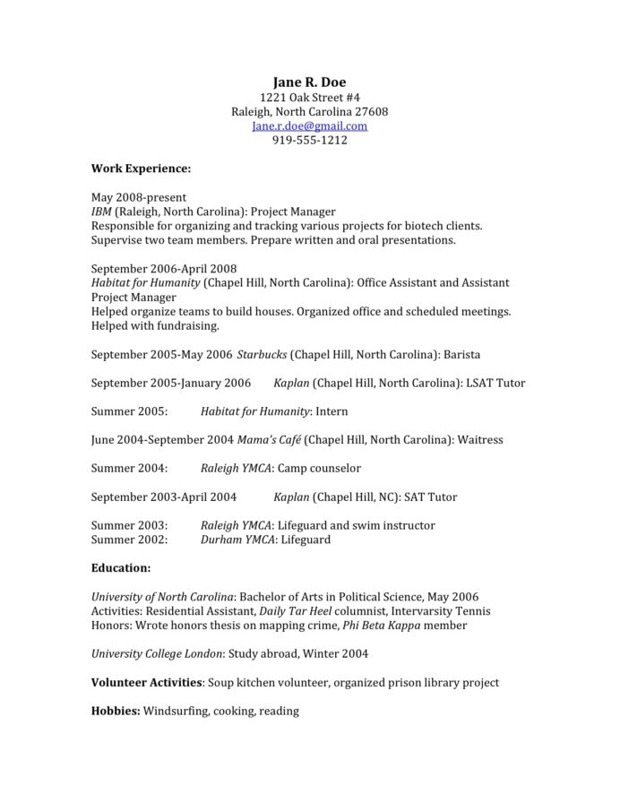 to craft law school application that gets you in sample resume teardown examples jmeter Resume Law School Application Resume