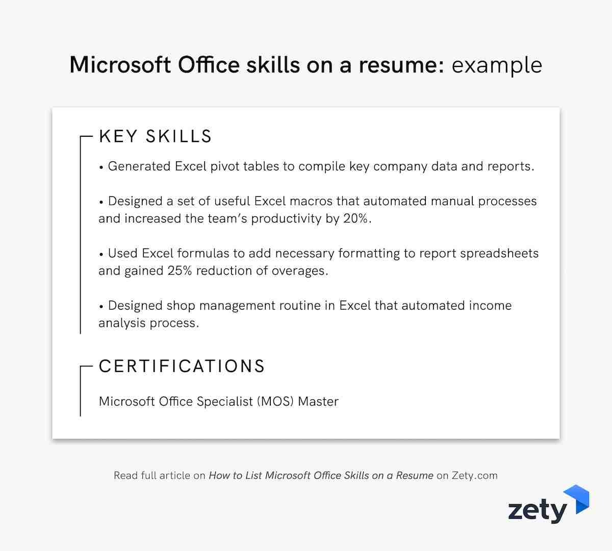 to microsoft office skills on resume in example executive core qualifications team leader Resume Microsoft Office Skills Resume