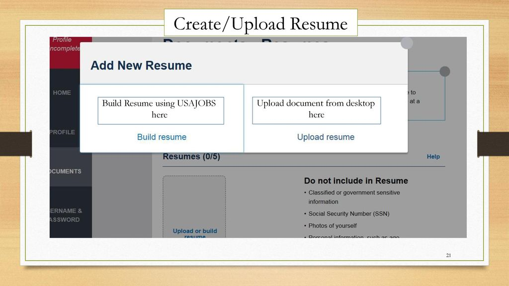 to navigate jobs job searches resume from usajobs create upload build using here image Resume Download Resume From Usajobs