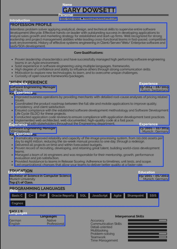 to ocr resumes using intelligent automation resume parsing machine learning output Resume Resume Parsing Using Machine Learning