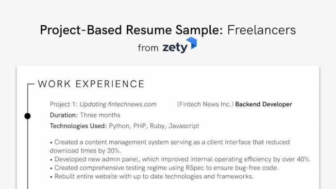 to projects on resume work personal academic project oriented based sample freelancers Resume Project Oriented Resume