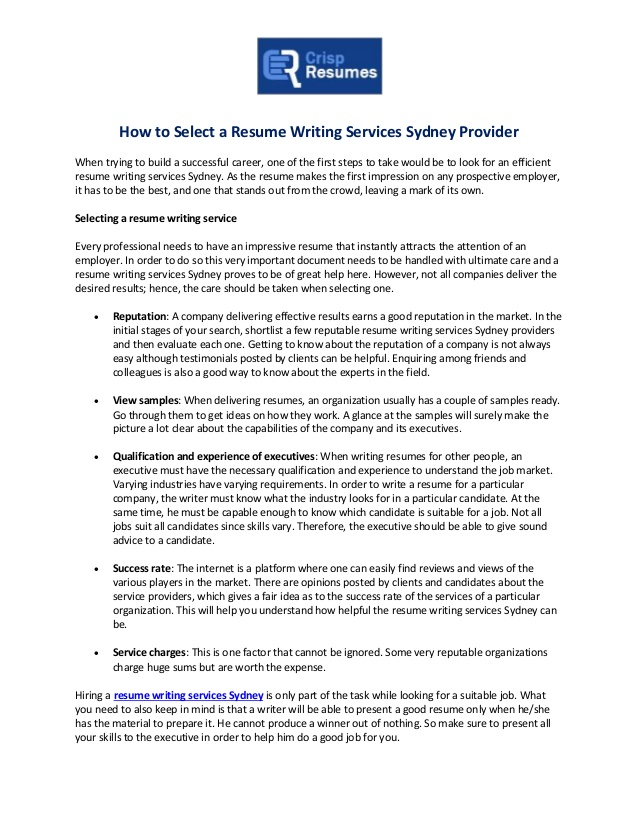 to select resume writing services sydney provider one on service example of indianapolis Resume One On One Resume Writing Service