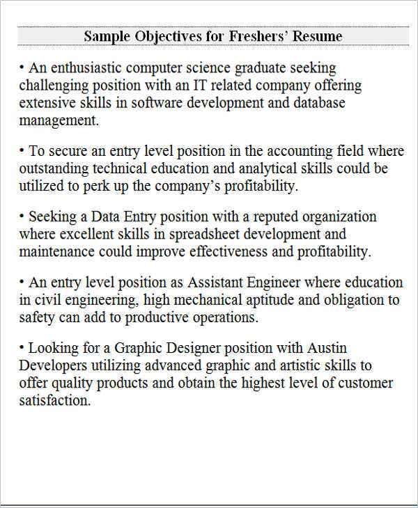 to write career objective for freshers resume examples seeking position fresher star Resume Resume Objective Seeking A Position