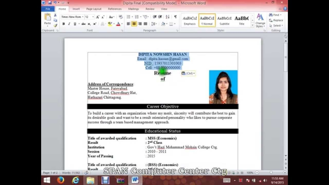 to write cv resume with microsoft word hd template writing create on samples for fresher Resume Create Resume On Microsoft Word