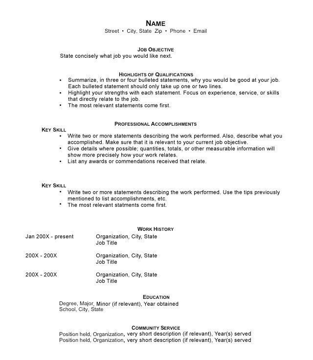 to write resume good description for functional format construction template federal Resume Good Description For Resume