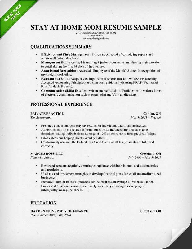 to write stay at home mom resume genius work from skills experienced print production Resume Work From Home Resume Skills