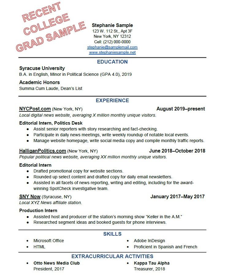 to write the perfect resume based on your years of experience recent college grad maddie Resume Recent College Grad Resume