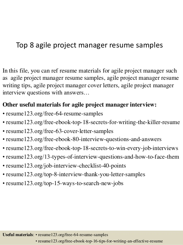 top agile project manager resume samples program good objective for first job follow up Resume Agile Program Manager Resume