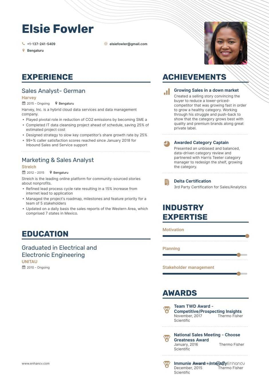 top analyst resume examples samples for enhancv awards playlist photographer assistant Resume Awards Examples For Resume