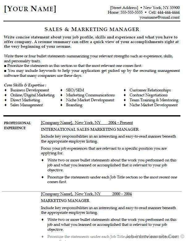 top best resume formats and examples format for job interview table personal marketing Resume Best Resume Format For Job Interview