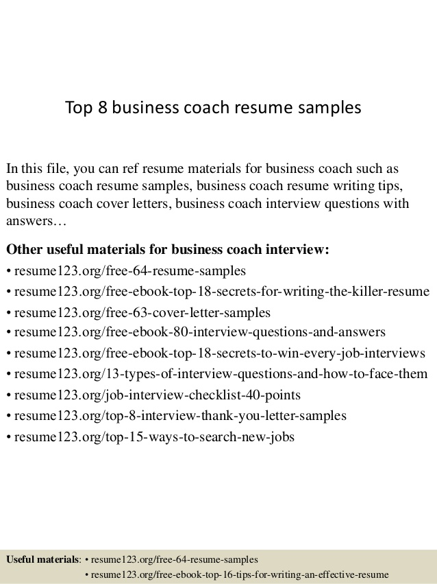 top business coach resume samples objective for coaching non chronological vault Resume Objective For Coaching Resume