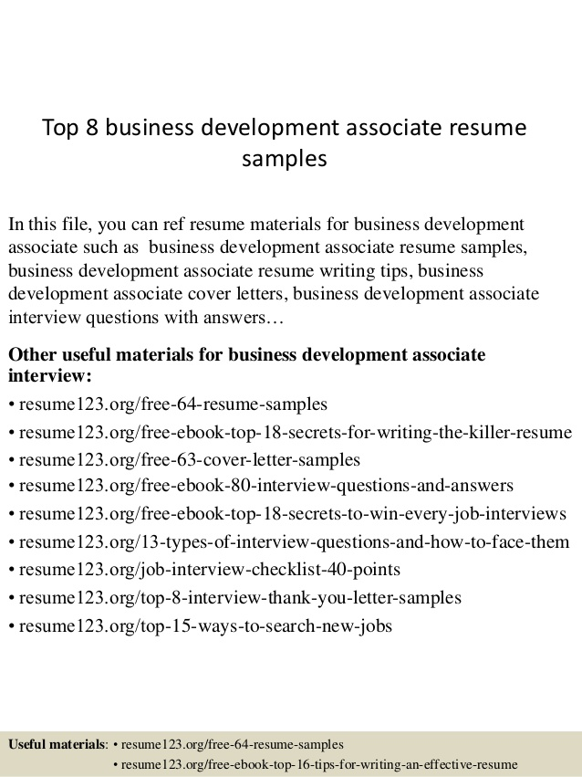 top business development associate resume samples career tools policy delivery driver Resume Business Development Associate Resume