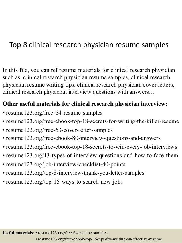 top clinical research physician resume samples format for freshers self employed template Resume Clinical Research Resume Format For Freshers