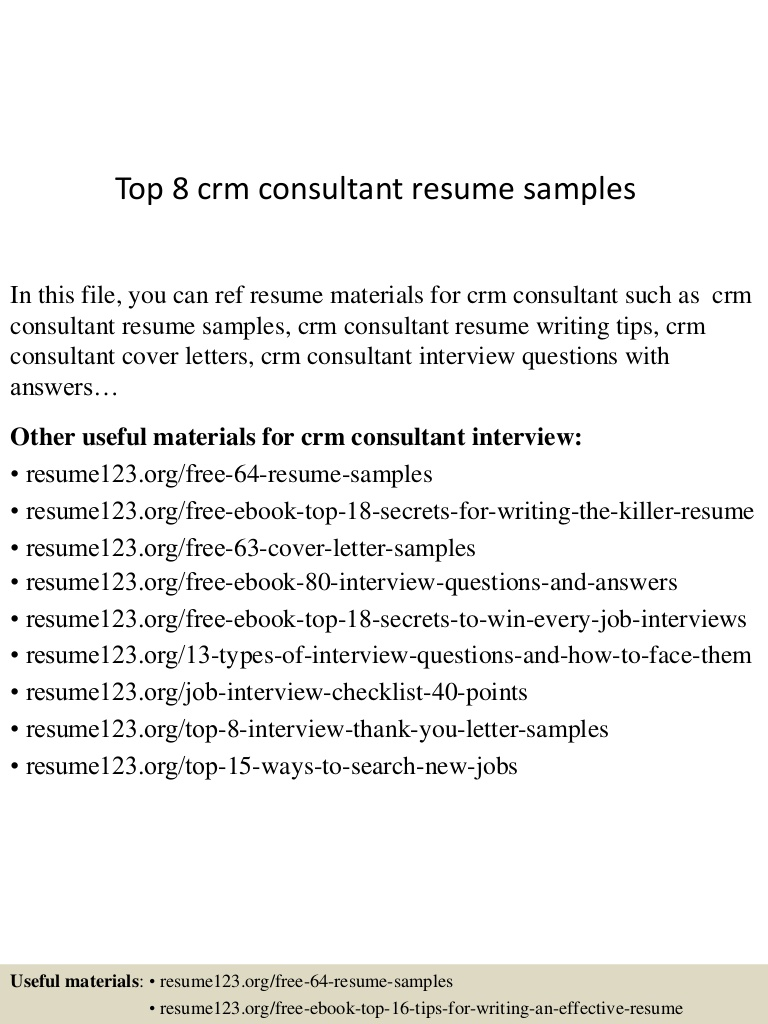 top crm consultant resume samples office top8crmconsultantresumesamples lva1 app6892 Resume Office 365 Consultant Resume