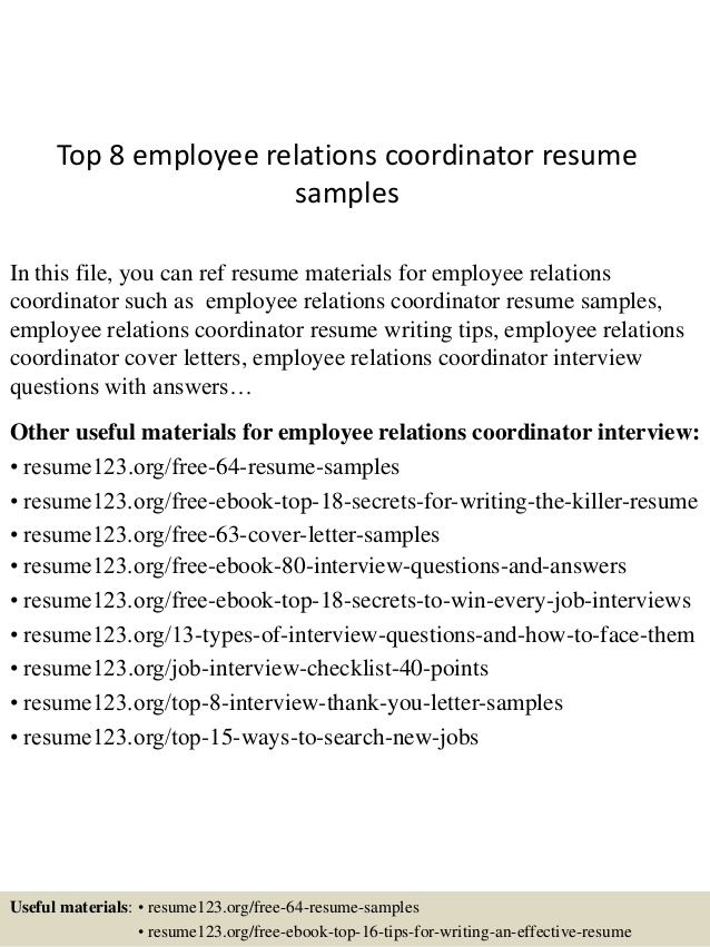 top employee relations coordinator resume samples study abroad advisor entry level mental Resume Study Abroad Advisor Resume