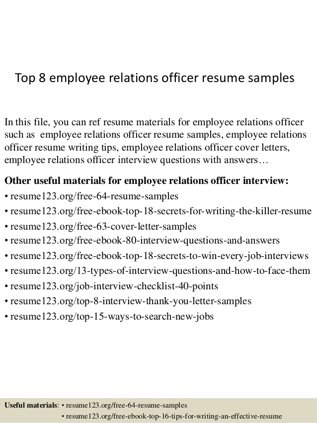 top employee relations officer resume samples customer professional summary for marketing Resume Customer Relations Officer Resume