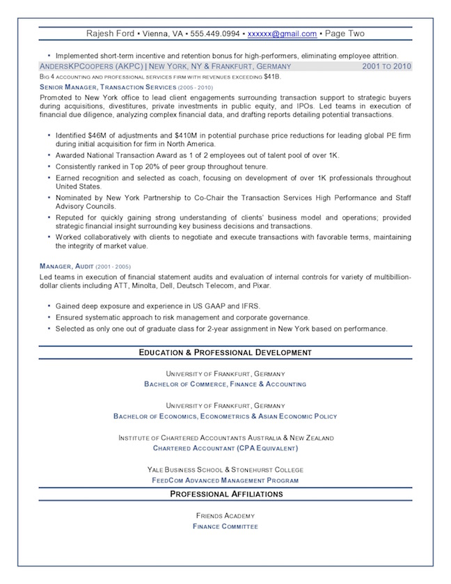 top executive resume writing examples senior level sample chief financial officer finance Resume Senior Level Resume Sample