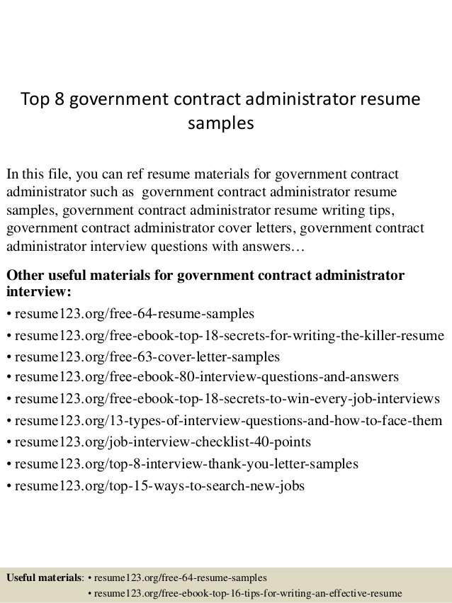top government contract administrator resume samples best linkedin swiss design think Resume Government Resume Samples