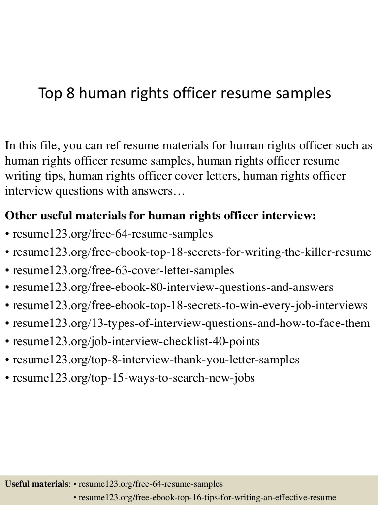 top human rights officer resume samples objective top8humanrightsofficerresumesamples Resume Human Rights Resume Objective
