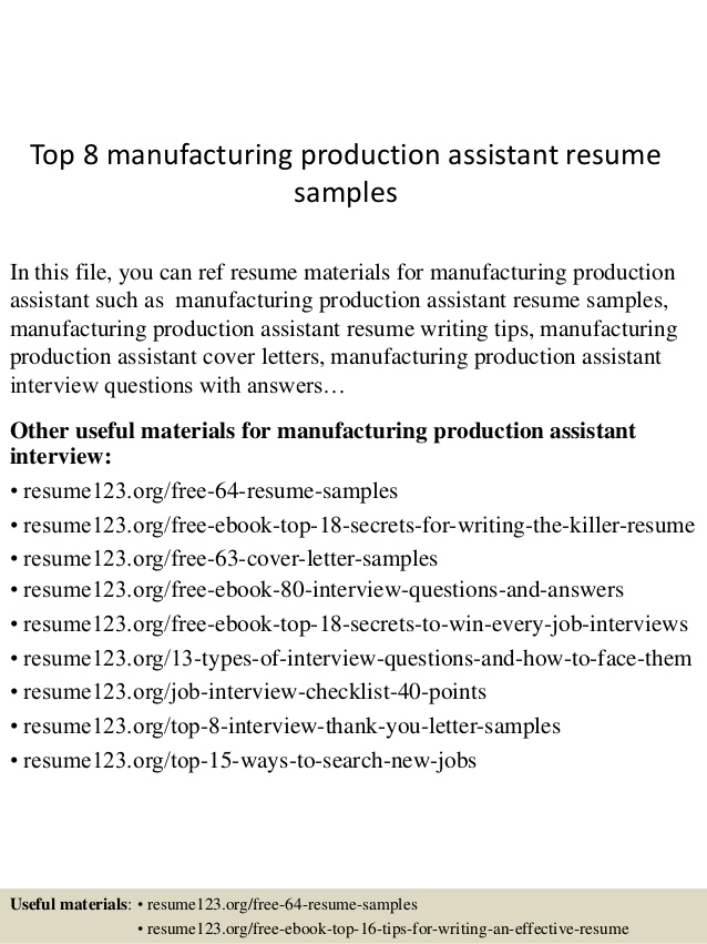 top manufacturing production assistant resume samples psg marseille paper target Resume Production Assistant Resume