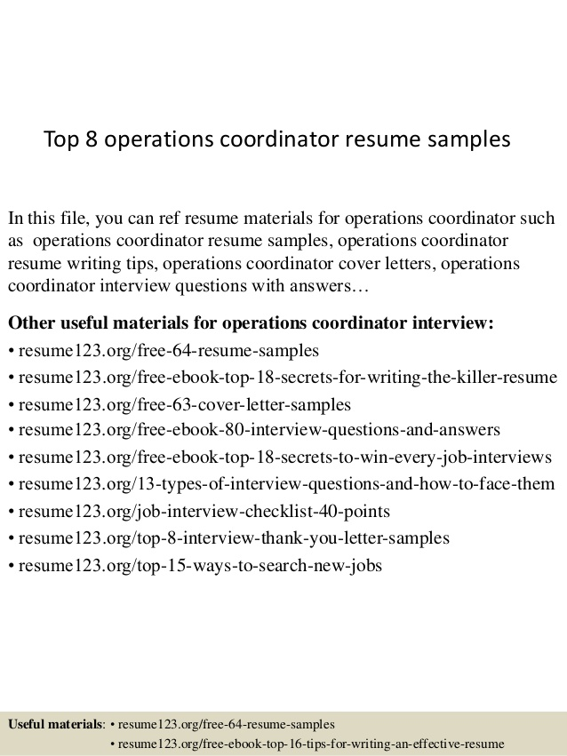top operations coordinator resume samples carlson school of management template chief Resume Operations Coordinator Resume