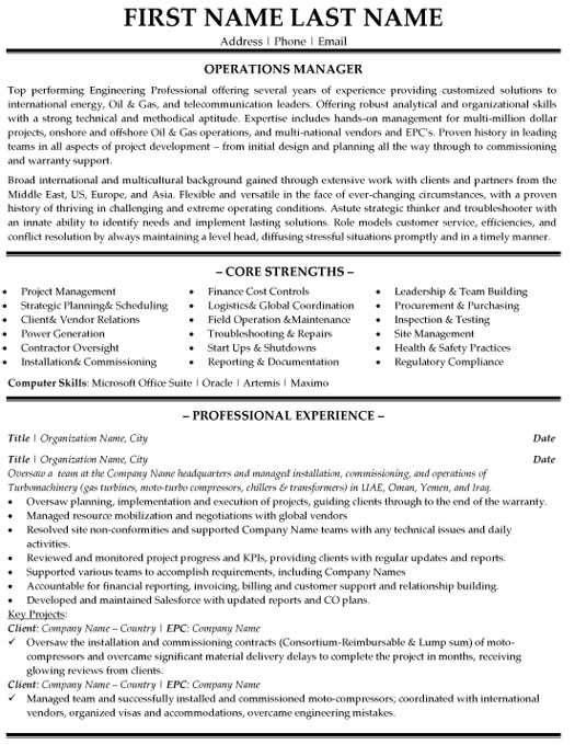top operations resume templates samples logistics op manager sample financial services Resume Logistics Operations Resume