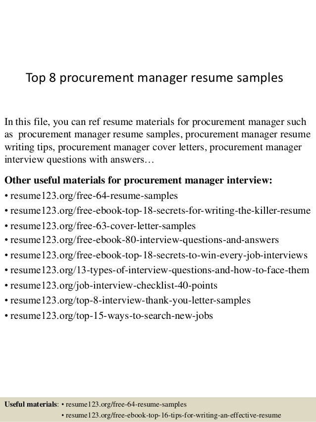 top procurement manager resume samples format for good titles business systems analyst Resume Resume Format For Procurement Manager