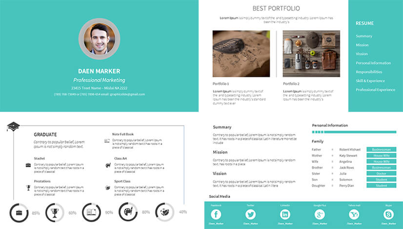 top resume powerpoint templates to help you stand out portfolio template free personal Resume Resume Portfolio Template Free