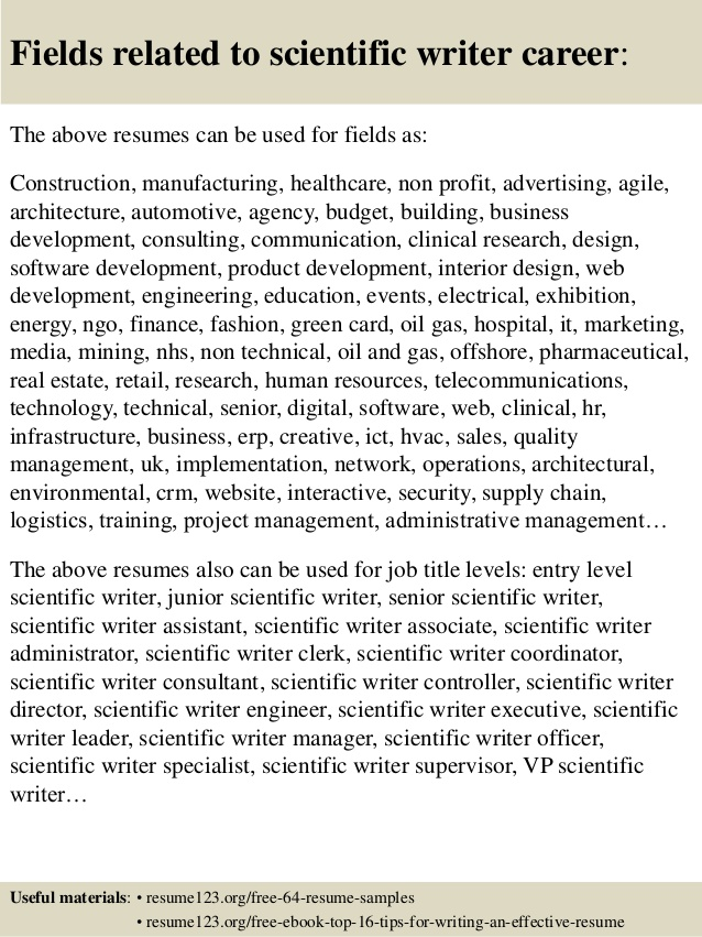 top scientific writer resume samples iphone restore company template entry level cashier Resume Scientific Resume Writer