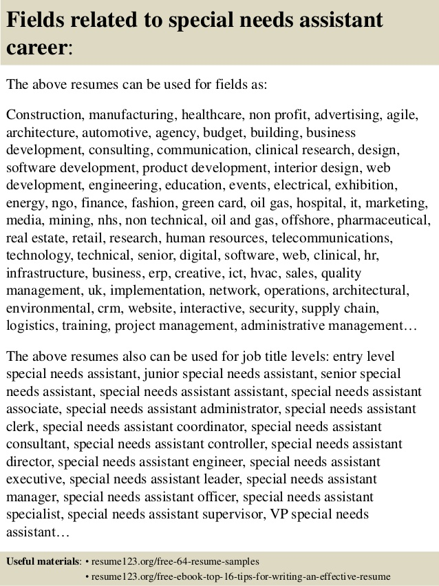 top special needs assistant resume samples sample beginners with little experience target Resume Sample Resume Special Needs Assistant