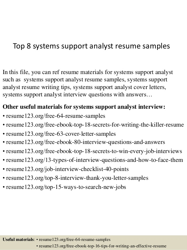 top systems support analyst resume samples system objectives for hotel and restaurant Resume System Support Analyst Resume