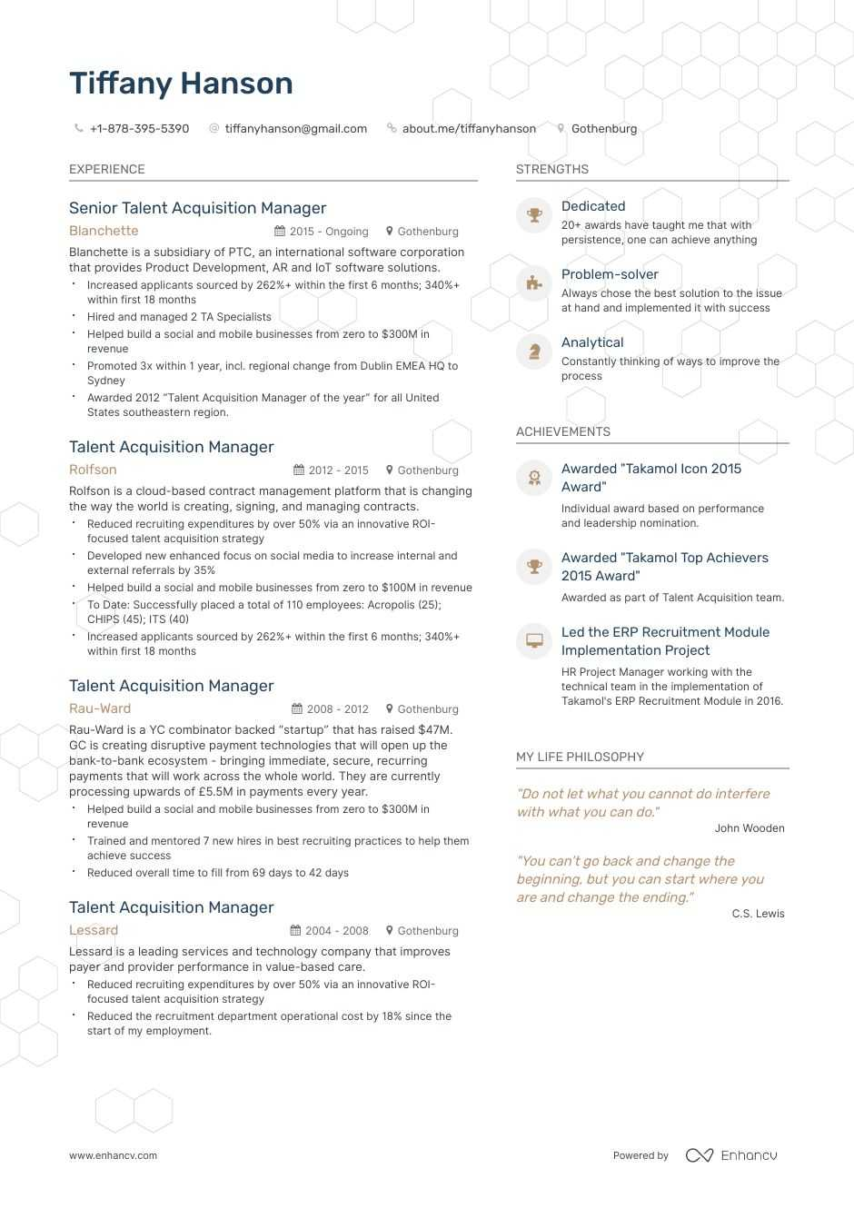 top talent acquisition manager resume examples samples for enhancv director of art Resume Director Of Talent Acquisition Resume