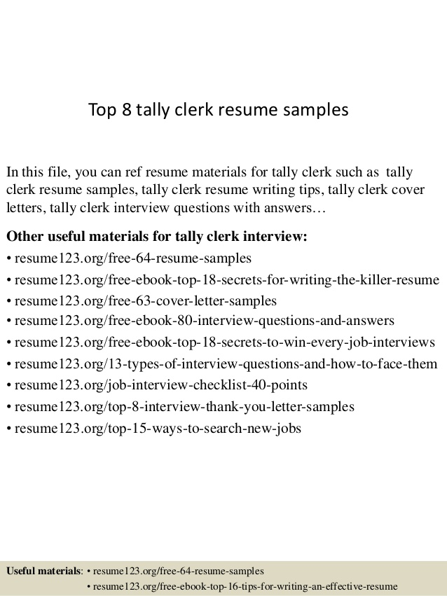 top tally clerk resume samples experience format construction materials testing Resume Tally Experience Resume Format