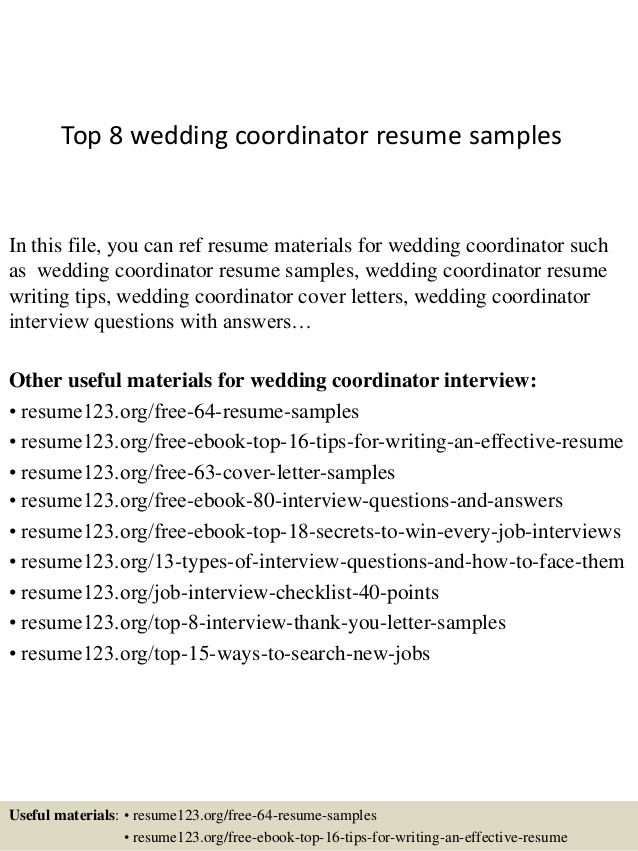 top wedding coordinator resume samples planner objective free builder that can print and Resume Wedding Planner Resume Objective