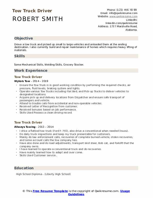 tow truck dispatcher resume samples february driver pdf janitor sample entry level data Resume Tow Truck Dispatcher Resume