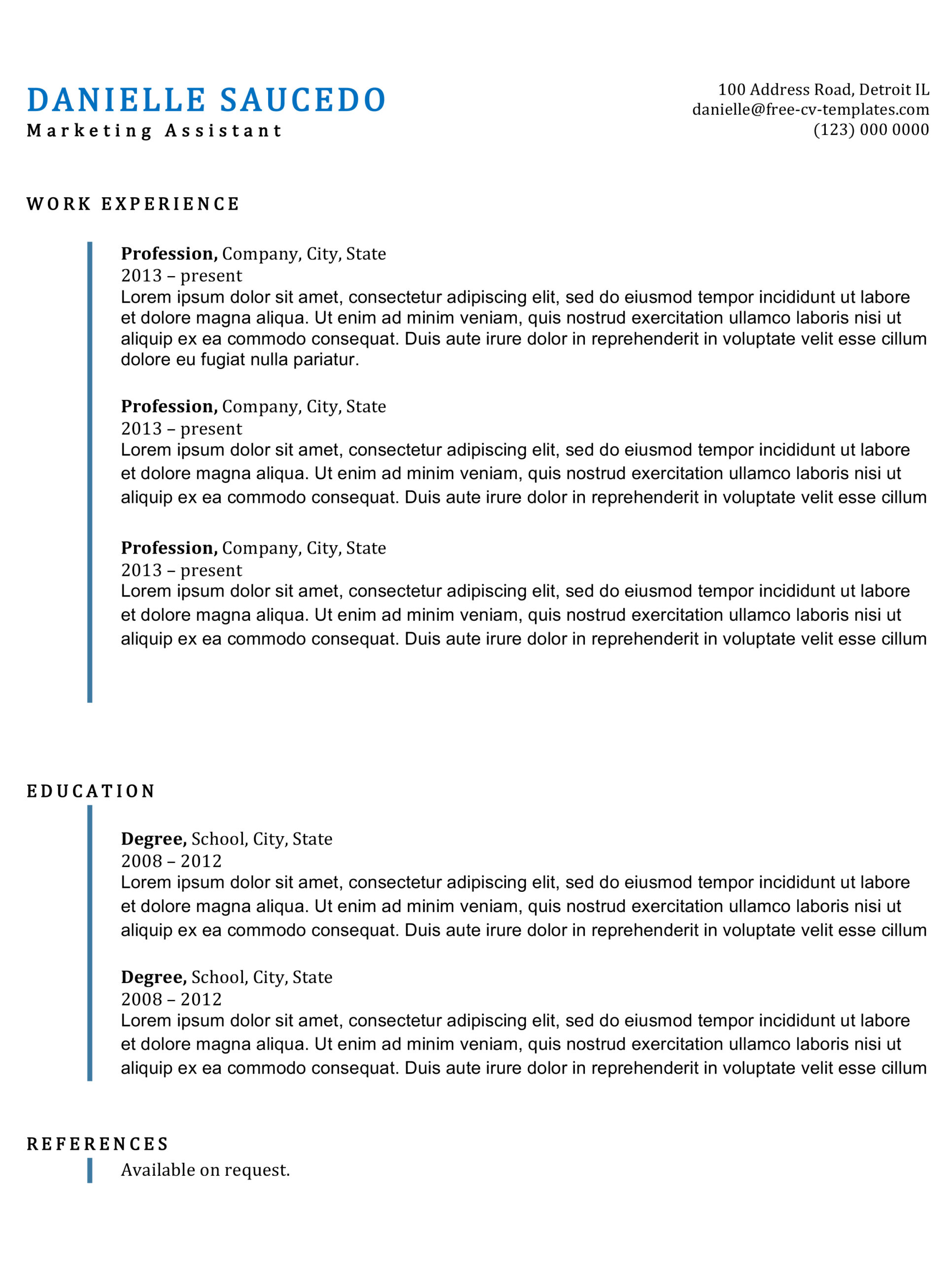 traditional cv templates land the job with our free word resume examples clean lines Resume Traditional Resume Examples