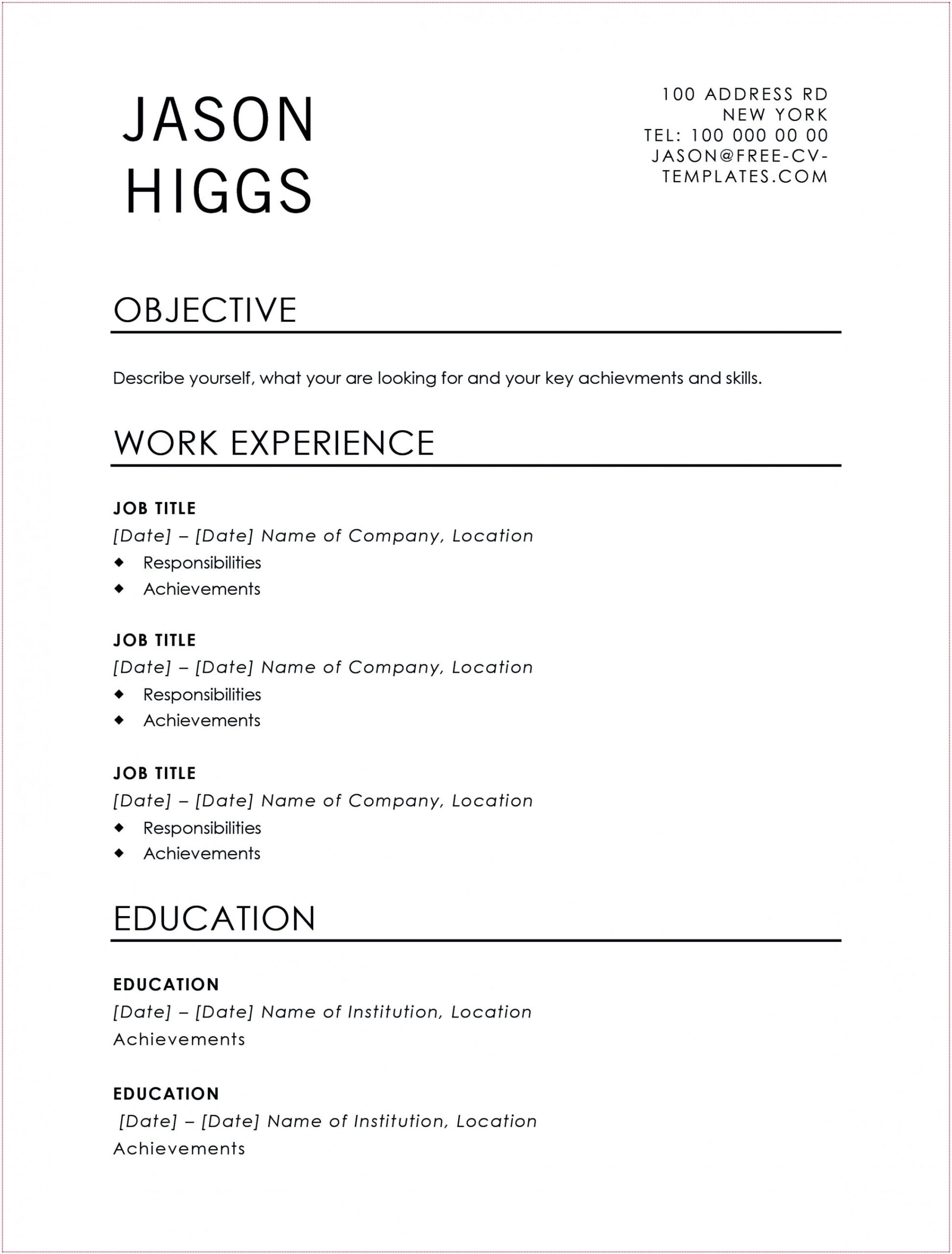 traditional resume examples template builder example jason land the job with this free cv Resume Traditional Resume Template