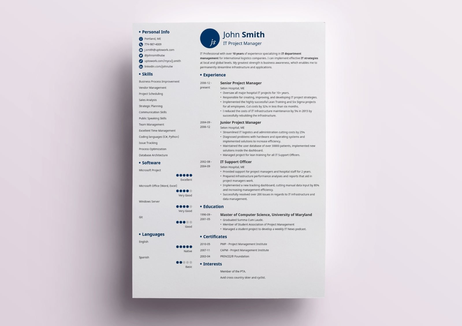 traditional resume template classic examples initials patient service representative Resume Traditional Resume Examples