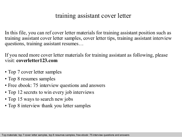 training assistant cover letter resume college transfer template business insider Resume Training Assistant Resume Cover Letter