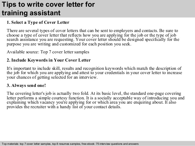training assistant cover letter resume contagion film college transfer template skills Resume Training Assistant Resume Cover Letter