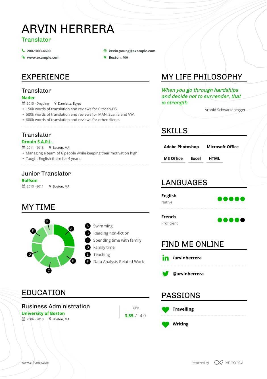 translator resume examples guide pro tips enhancv technical programs server tasks for Resume Technical Translator Resume