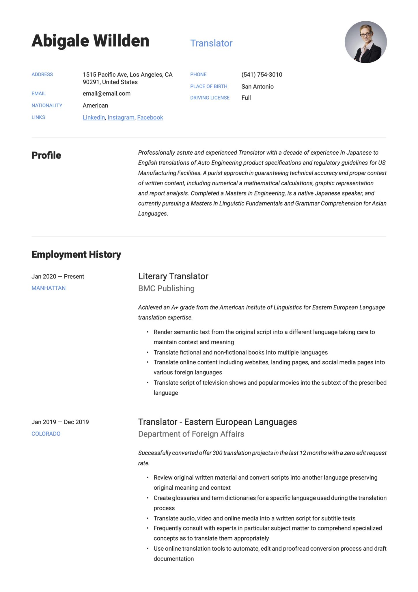 translator resume writing guide templates technical scaled for server position medical Resume Technical Translator Resume